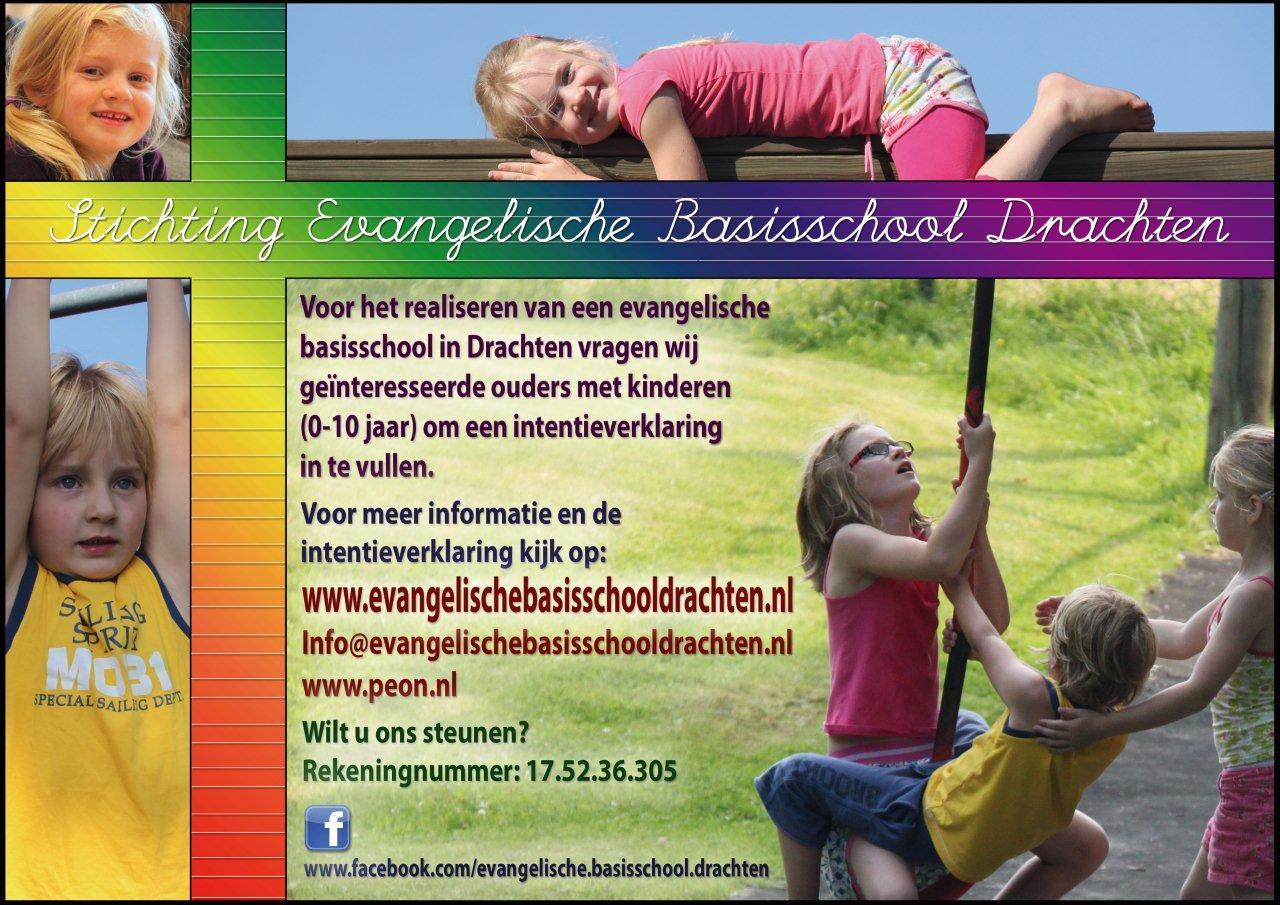 Evangelische Basisschool Drachten verzamelt intentieverklaringen